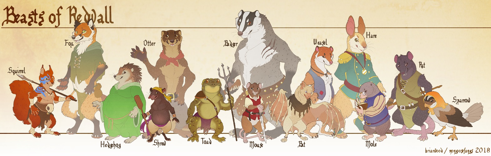 Redwall Size Chart 2018, by mongoosefangs