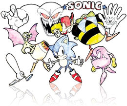 Early depictions of Sonic characters