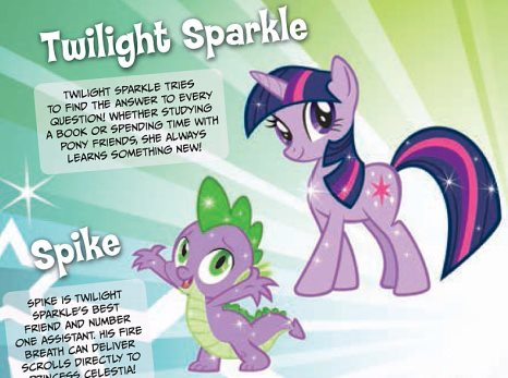 Twilight Sparkle and Spike are introduced