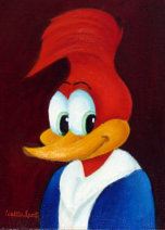 Woody Woodpecker portrait, by Walter Lantz