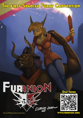 Furrnion poster, featuring Bertín and Doña Ana; art by Norcus