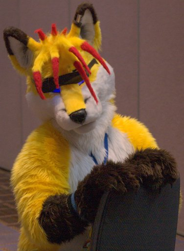 FirestormSix-built fursuit with a good hair day