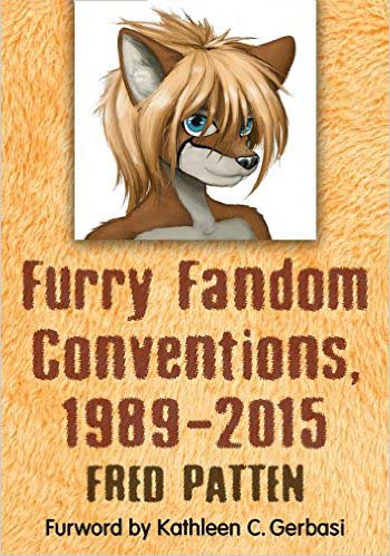 Cover to Fred Patten's 'Furry Fandom Conventions'. Cover art by Yamavu.
