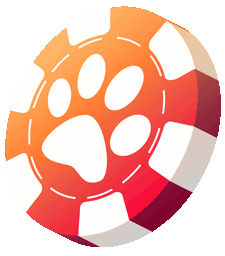 Casino chip with paw logo