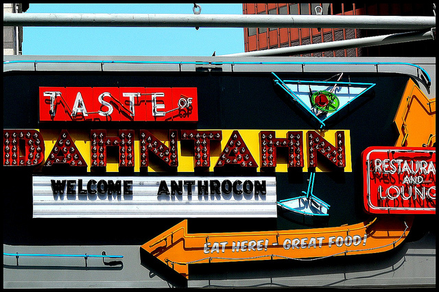 Anthrocon restaurant sign - Taste of Manhattan