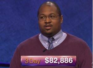 Bucktown Tiger three-day total on Jeopardy