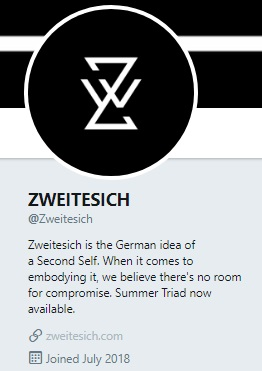 A picture of a logo, with the text, Zweitesich is the German idea of a Second Self. When it comes to embodying it, we believe there's no room for compromise.