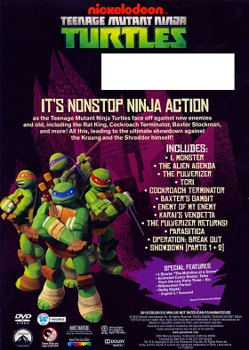 TMNT Ultimate Showdown DVD back cover