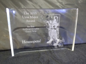 2015 Ursa Major Award for 'Housepets!'