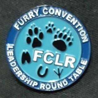 Furry Convention Leadership Roundtable pin