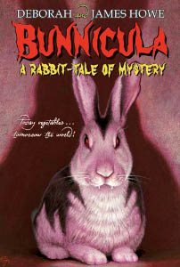 A book cover, showing a rabbit that looks similar to Dracula the vampire.