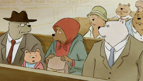 A courtroom of bears.