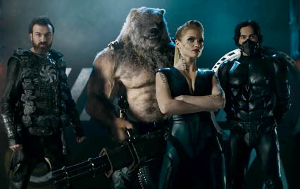 The four Guardians. From the left: Ler, Ursus, Xenia and Khan.