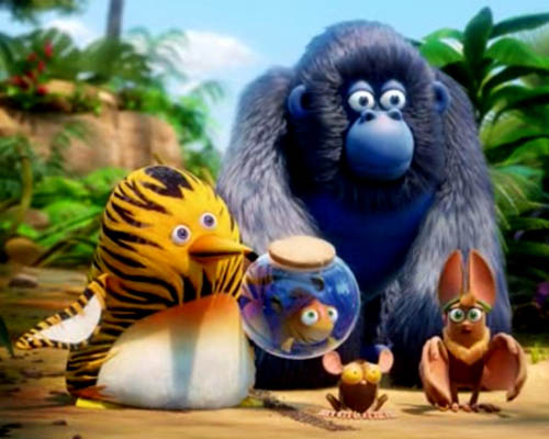 The main characters of The Jungle Bunch.