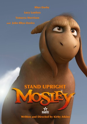 The movie poster for Mosley. The tag line reads 'Stand upright'.