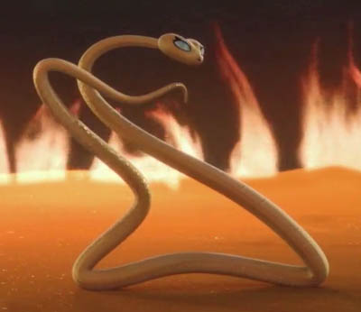 A rival snake strikes a pose. Let the dance-off begin!