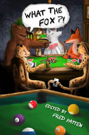 The front cover of the general edition, showing a group of furries around a poker table.